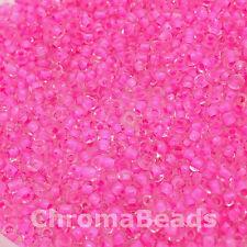 50g perline di vetro Rosa Caramella All'interno di circa 3mm taglia 8/0