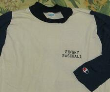 Vtg PINGRY BASEBALL School Champion Blue Bar Raglan Jersey T Shirt XL
