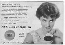 """Werbeanzeige von 1958 POND""""s Make-up Angel Face ca 25,5 x 17,5 cm"""