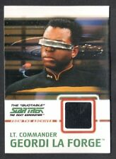 STAR TREK THE QUOTABLE NEXT GENERATION 2005 COSTUME CARD #C5 GEORDI LA FORGE