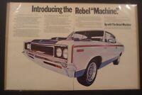 """1970 American Motors Rebel Machine AMC Javelin *Original*Ready to Display"""" ad"""