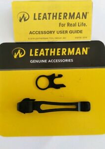 Leatherman Black Pocket Clip and Lanyard Ring for Charge Wave Surge