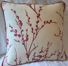 """Laura Ashley pussy willow  Cranberry  16"""" Piped"""