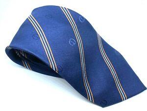 "Dunhill Men's Tie Blue Striped 100% Silk 3"" Width 56"" Long"