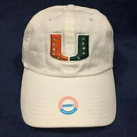 MIAMI HURRICANES NCAA THE U *Bling Bling* Official Hat Cap White Women OSFA NEW!