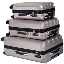 ECO 3 Pcs Luggage Travel Set Bag ABS Trolley Suitcase w/TSA lock 4 Wheels Gold
