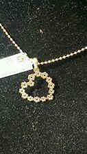 Women's Skillus 23mm Hollow Heart Flower Charm Pendant Yellow Gold 18k