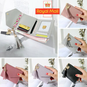 Women Small Wallet Lady Mini Purse Bifold PU Leather Short Rfid Blocking Handbag