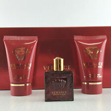 VERSACE EROS FLAME 3PC MINI GIFT SET S/GEL COLOGNE & A/S BALM NEW IN BOX