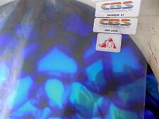 "Dichroic Glass:CBS 96 COE Hot Lava Pattern; Rainbow on Flat Black - 3""Sq"