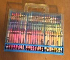 Vintage Crayola Clear And Blue Plastic 72 Crayon Case