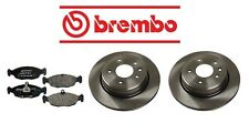 Jaguar XJ6 1995-1997 Rear Left & Right Rotors & Pads Brake KIT Brembo/Mintex