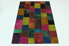 moderne Patchwork Délavé Used Look PERSAN TAPIS tapis d'Orient 2,96 X 200