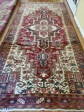 4.8 x 10.4 Vintage Fine Heriz Rug Antique Serapi Oushak Kazak Caucasian Shirvan