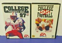 Bill Walsh College Football USA 95 + 97 - Sega Genesis Working - 2 Game Lot