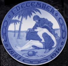 1916 ROYAL COPENHAGEN GEDENKTELLER / COMMEMORATIVE PLATE #165  Bing Grondahl