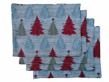 Christmas Tree Table Place Mats Set of 6 Rustic Shabby Chic Decoration Party