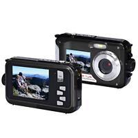Double Screen Waterproof Camera 24MP 16x Digital Zoom Dive Camera Full HD CMOS
