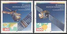 Allemagne 1991 EUROPA/EUROPE dans l'espace/satellites de communication/cartes 2 V Set (b285)