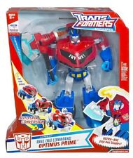 Transformers animated suprême roll-out command optimus prime rare de collection...