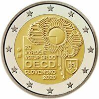 Rolle 25 * 2 Euro Slowakei 2020 20° Jahrestag des Beitritts zur OECD