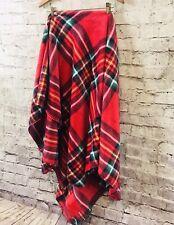 New Victoria'S Secret Vs Pink Sherpa Velvet Cozy Tartan Plaid Blanket 50 X 60 In