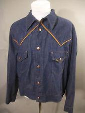 LEE TRUE VINTAGE XL Western Cal 45 Snap Button USA Denim Work Blue Shirt Jacket