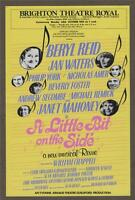 A LITTLE BIT ON THE SIDE Jan Waters. SIGNED autograph Brighton Theatre 1983 j35