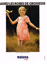 PUBLICITE ADVERTISING 044   1972  MATERNA   robes de grossesse