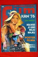 BRIGITTE  BARDOT ON COVER 1976 VERY RARE EXYU MAGAZINE