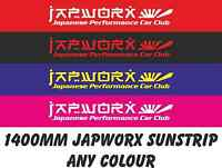 140cm x 20cm JAPWORX JAPANESE PERFORMANCE CAR CLUB SUN STRIP CAR STICKER decal