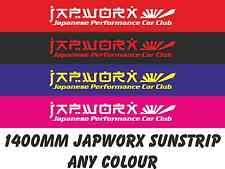Japworx Giapponese Performance AUTOMOBILE CLUB SUN STRISCE AUTO Adesivo JDM Decalcomania Sunstrip 2
