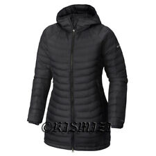 """New Womens Columbia """"White Out"""" Long Omni-Heat Insulated Hooded Winter Jacket"""