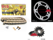 Suzuki GSX1400 DID Gold X-Ring Chain and JT RB Sprocket Kit Set