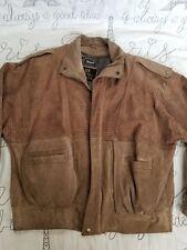 Vintage 80s Snake skin leather Byrnes & Baker jacket beige tan coat sz L