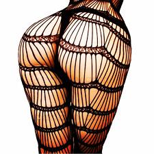 Stripped Pattern Bodystockings Mesh Fishnet Body Stockings Bodysuit Lingerie Hot