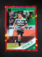 2018-19 Panini Donruss Soccer Marcos Acuna Sporting Lisbon #60 Red Press Proof