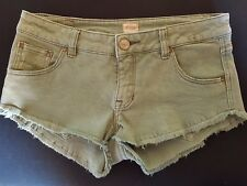 "WOMEN'S SHORTS RIPCURL MINI CHEEKY DISTRESSED STRETCH SIZE 10/28"" FREE POSTAGE"