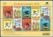 NEDERLAND: UITGAVE 2019 VEL KINDERPOSTZEGELS.