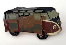 """VW Bus T1 SAMBA """"Seitenansicht"""" (G)  schwarz.rot  Ansteckpin    ANSEHEN !"""