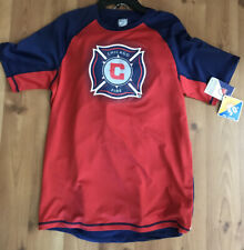 MLS Chicago Fire Soccer Swim Jersey & Trunks Red Blue Youth Large 14-16 NWT