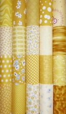 20 Yellow Mixed Cotton Fabric Quilting Patchwork 5 inch Charm squares #63