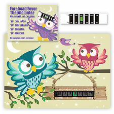 Owl themed Room Thermometer & Forehead Fever thermometer twin pack - SAVE 20%+