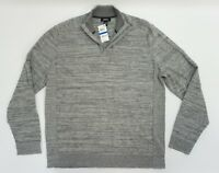 Alfani Mens Shirt Mock Neck 1/2 Zip Space Dye Pullover Sweater XL Grey Gray