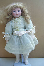 """Pa #594 Porcelain Doll With Stand 16"""" Tall"""