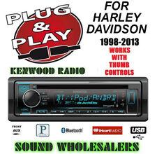 PLUG AND PLAY FOR HARLEY KENWOOD KDC-X302 CD BLUETOOTH RADIO STEREO ADAPTER KIT