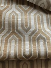 Covington Continental Camel Upholstery Fabric Geometric Gold Cream Taupe 4 Yds
