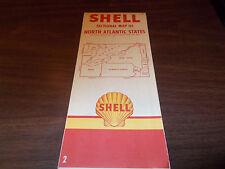 1954 Shell North Atlantic States Vintage Road Map