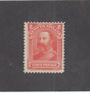 NEWFOUNDLAND (MK2395) # 82  FVF-MH  2cts 1898 KING EDWARD VII / VERMILION CV $15