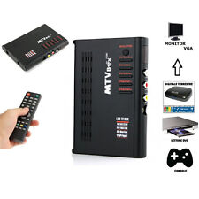 CONVERTITORE VIDEO MONITOR RICEVITORE VGA PC TV BOX DVD DVR  TUNER ANALOGICO